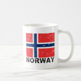 Norway Vintage Flag Coffee Mugs