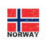 Norway Vintage Flag Postcard