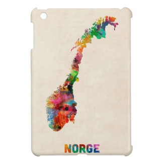 Norway Watercolor Map iPad Mini Covers
