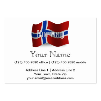 Norway Waving Flag Business Card Templates