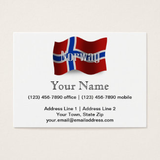 Norway Waving Flag Business Card