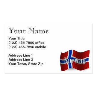 Norway Waving Flag Business Card Template