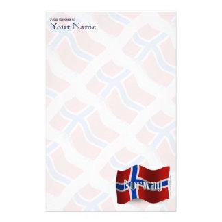 Norway Waving Flag Customized Stationery