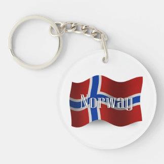 Norway Waving Flag Keychain