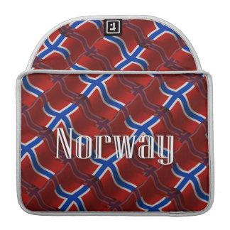 Norway Waving Flag Sleeves For MacBook Pro