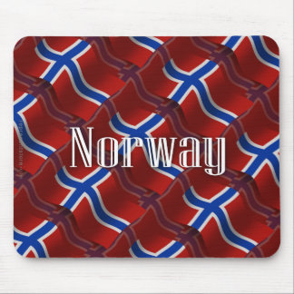 Norway Waving Flag Mouse Pad