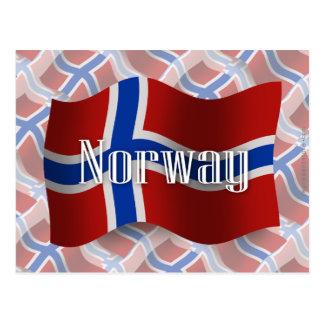 Norway Waving Flag Postcard