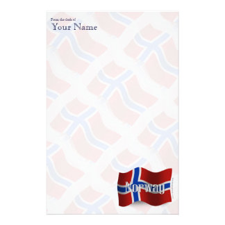 Norway Waving Flag Stationery