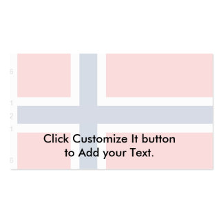 Norway With Proportions Norway flag Business Cards