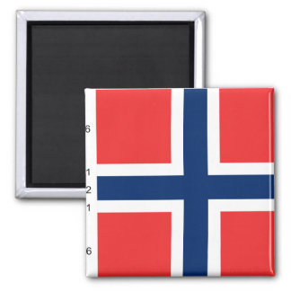 Norway With Proportions, Norway flag Refrigerator Magnets