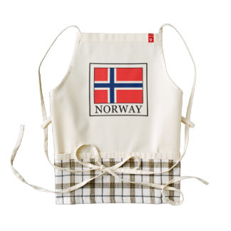 Norway Zazzle HEART Apron