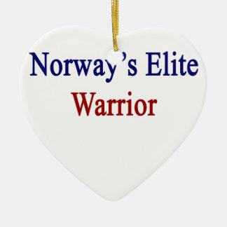 Norway's Elite Warrior Ceramic Ornament