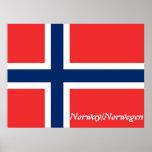 norwegen/Noruega, bandera Posters