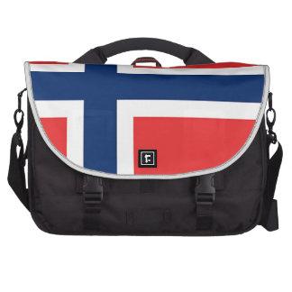 norwegen/norway, flag laptop commuter bag