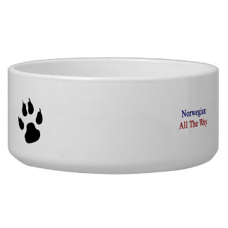 Norwegian All The Way Dog Food Bowl
