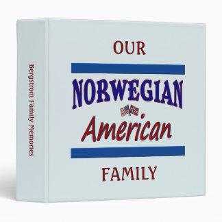 Norwegian American 3 Ring Binder