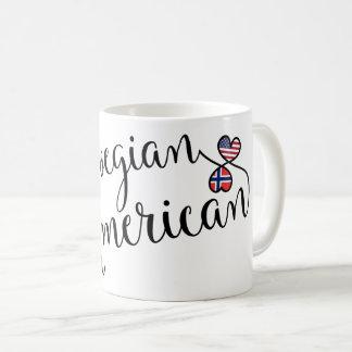 Norwegian American Entwined Hearts Mug