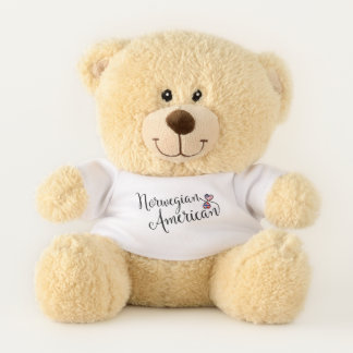 Norwegian American Entwined Hearts Teddy Bear