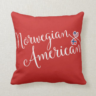 Norwegian American Entwined Hearts Throw Cushion