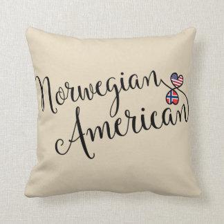 Norwegian American Entwined Hearts Throw Cushion