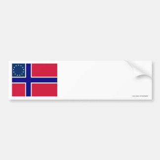 Norwegian-American Flag Bumper Stickers