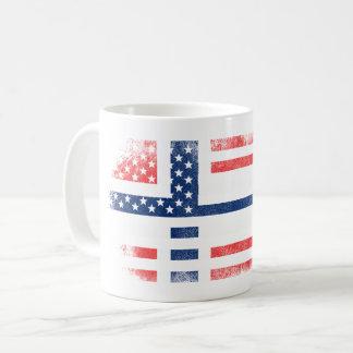 Norwegian American Flag   Norway and USA Design Coffee Mug