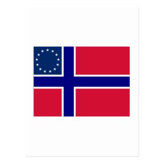Norwegian-American Flag Postcard