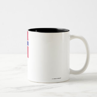 Norwegian-American Flag Two-Tone Coffee Mug
