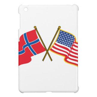 Norwegian American Flags Case For The iPad Mini