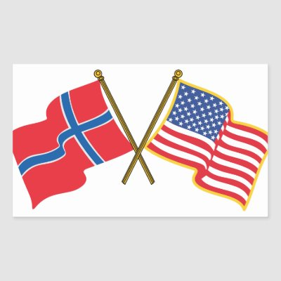 Norway flag stickers rectangular sticker zazzle com