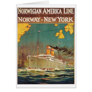 Norwegian American Line Card