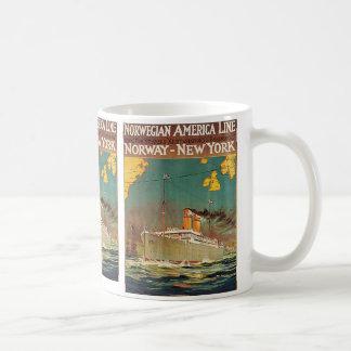 Norwegian American Line Coffee Mug
