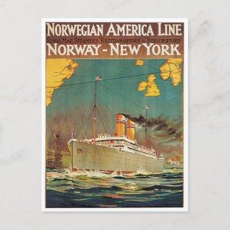 Norwegian American Line postcard