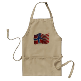Norwegian-American Waving Flag Adult Apron