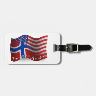 Norwegian-American Waving Flag Bag Tag