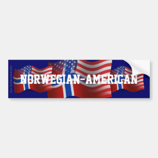 Norwegian-American Waving Flag Bumper Sticker