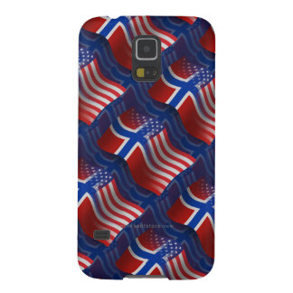 Norwegian-American Waving Flag Galaxy S5 Cover