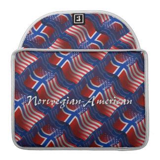 Norwegian-American Waving Flag MacBook Pro Sleeve
