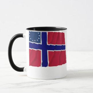 Norwegian-American Waving Flag Mug
