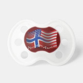 Norwegian-American Waving Flag Pacifiers