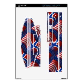 Norwegian-American Waving Flag Skin For PS3 Console