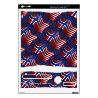 Norwegian-American Waving Flag Skin For The Xbox 360 S