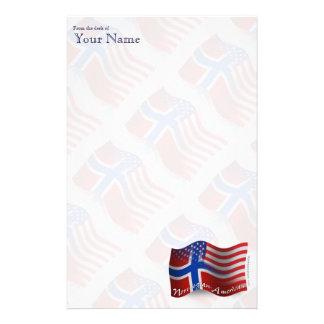 Norwegian-American Waving Flag Stationery