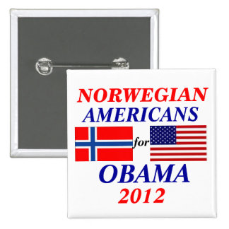Norwegian americans for Obama Pinback Button