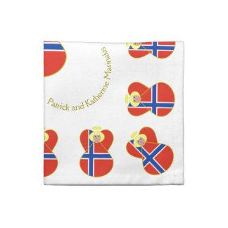 Norwegian Angel Flag Blonde Hair Napkin
