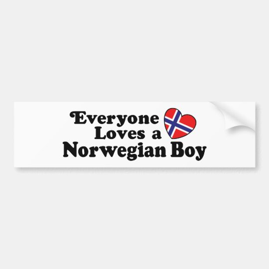 Norwegian Boy Bumper Sticker