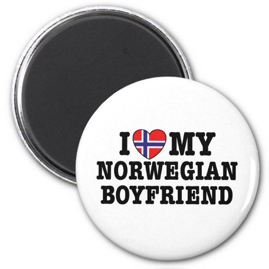 Norwegian Boyfriend 2 Inch Round Magnet