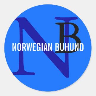 Norwegian Buhund Breed Monogram Classic Round Sticker