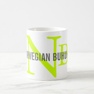 Norwegian Buhund Breed Monogram Coffee Mug
