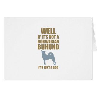 Norwegian Buhund Card
